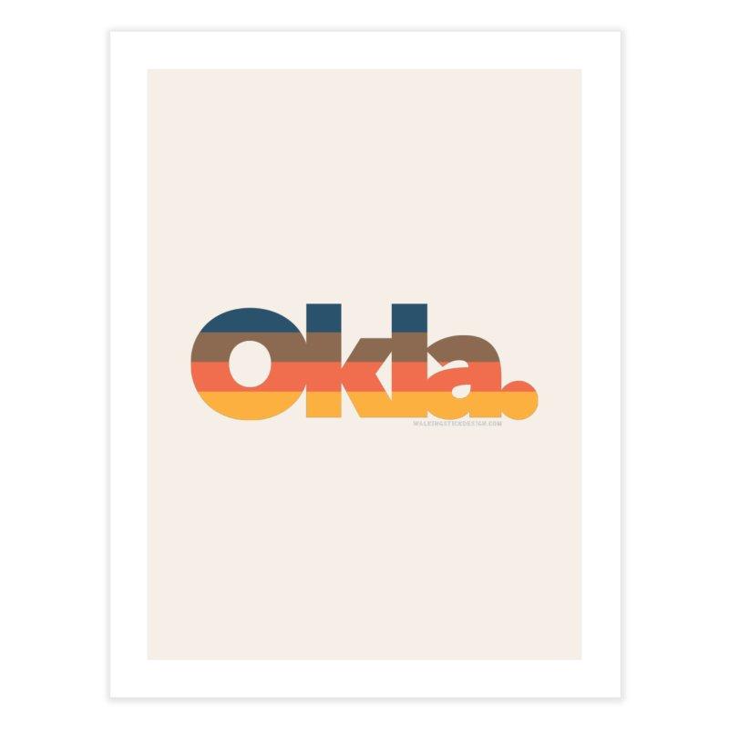 Oklahoma Sunset Home Fine Art Print by WalkingStick Design's Artist Shop