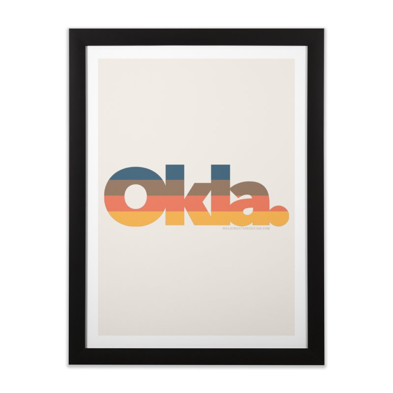 Oklahoma Sunset Home Framed Fine Art Print by WalkingStick Design's Artist Shop