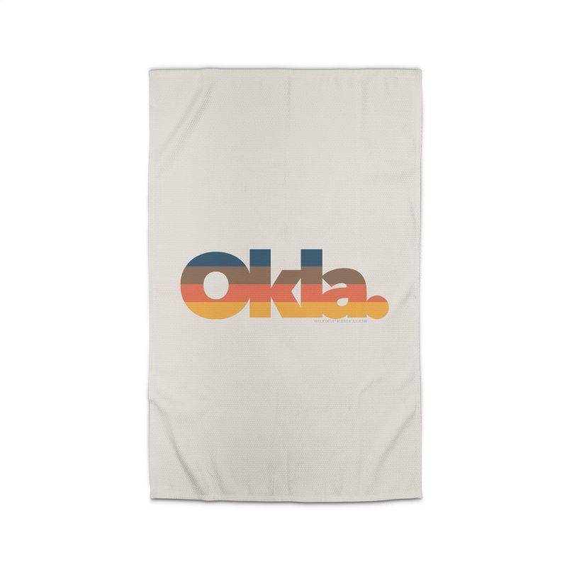 Oklahoma Sunset Home Rug by walkingstickdesign's Artist Shop