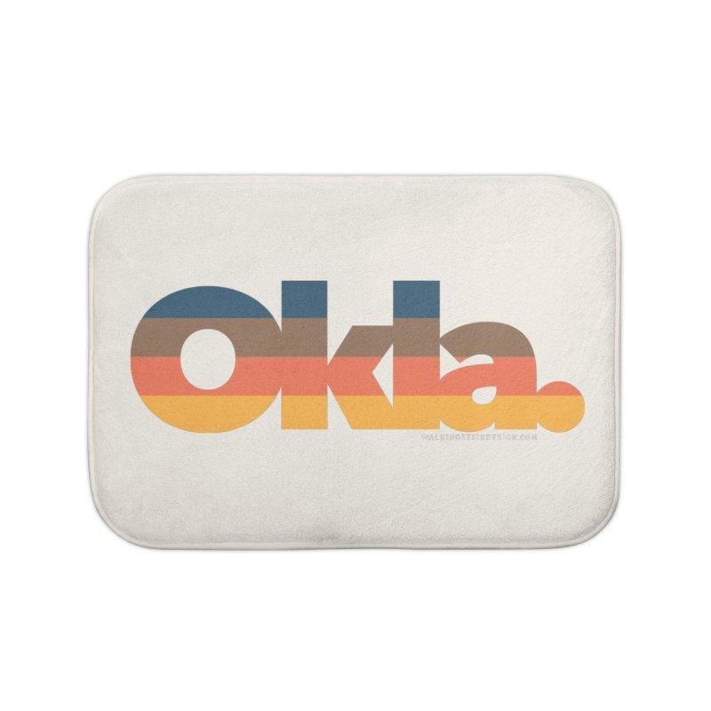 Oklahoma Sunset Home Bath Mat by walkingstickdesign's Artist Shop