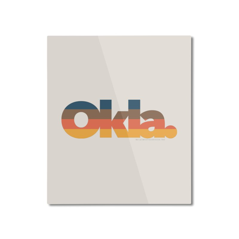 Oklahoma Sunset Home Mounted Aluminum Print by WalkingStick Design's Artist Shop