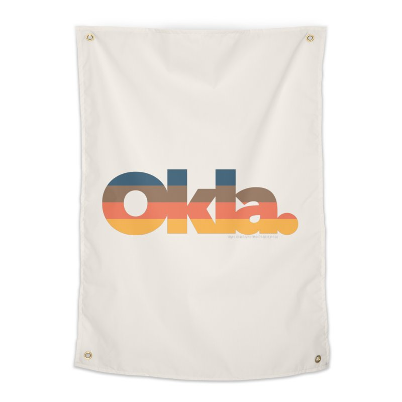 Oklahoma Sunset Home Tapestry by walkingstickdesign's Artist Shop
