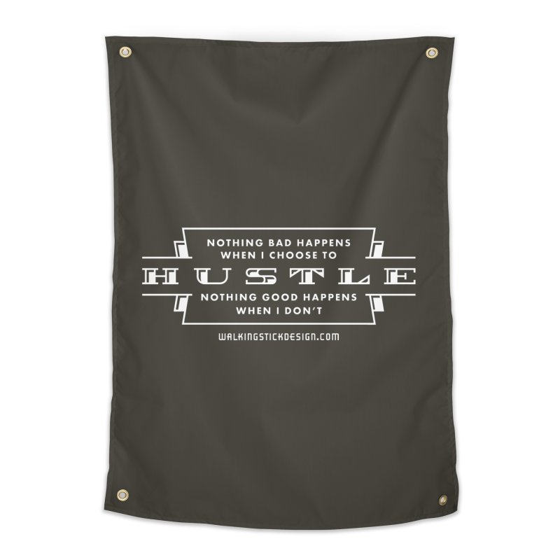 Hustle Shirt Home Tapestry by walkingstickdesign's Artist Shop