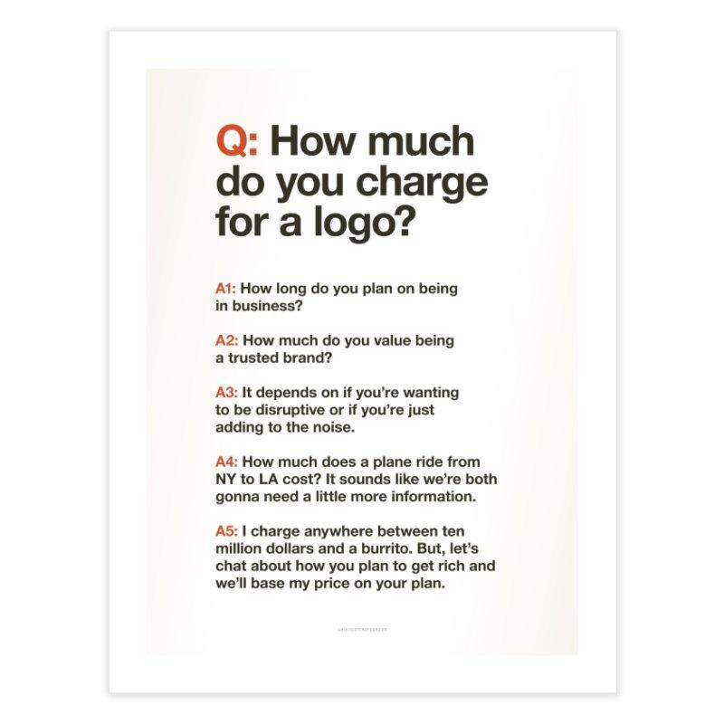 Logo Price - Light Home Fine Art Print by walkingstickdesign's Artist Shop