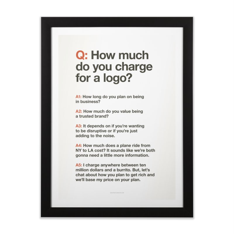 Logo Price - Light Home Framed Fine Art Print by walkingstickdesign's Artist Shop