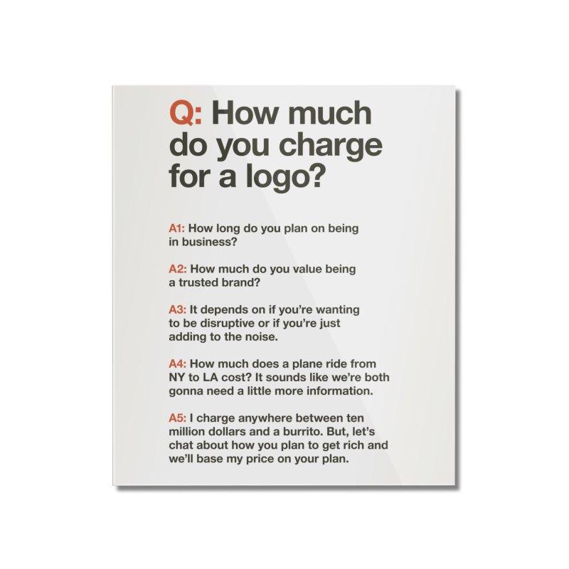 Logo Price - Light Home Mounted Acrylic Print by WalkingStick Design's Artist Shop