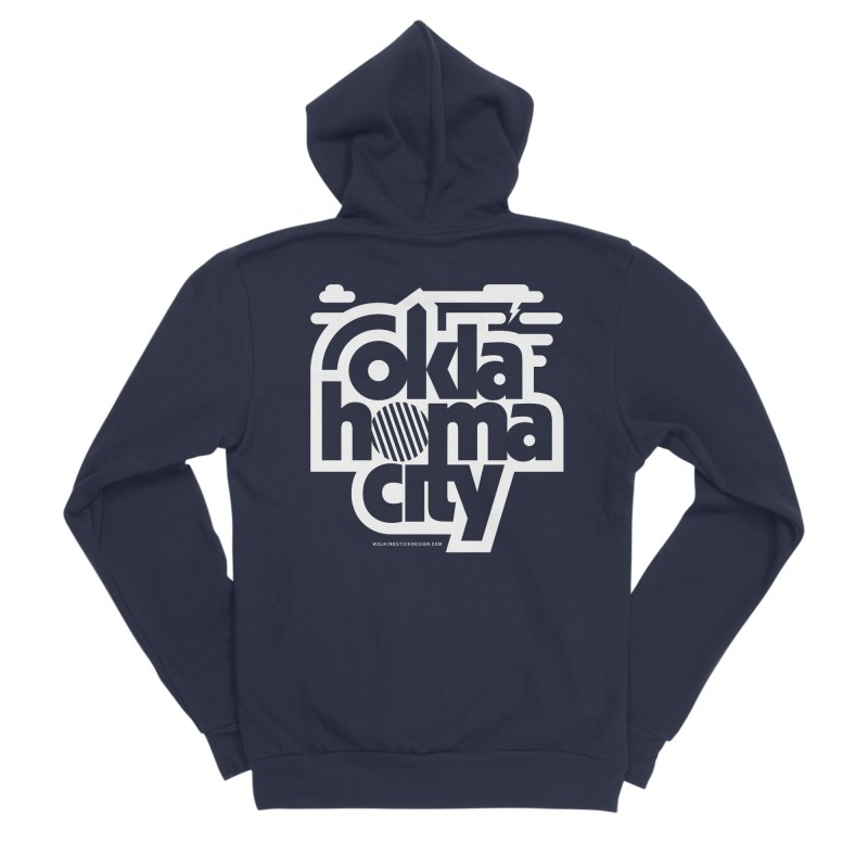 Retro Oklahoma City Shirt Men's Sponge Fleece Zip-Up Hoody by walkingstickdesign's Artist Shop