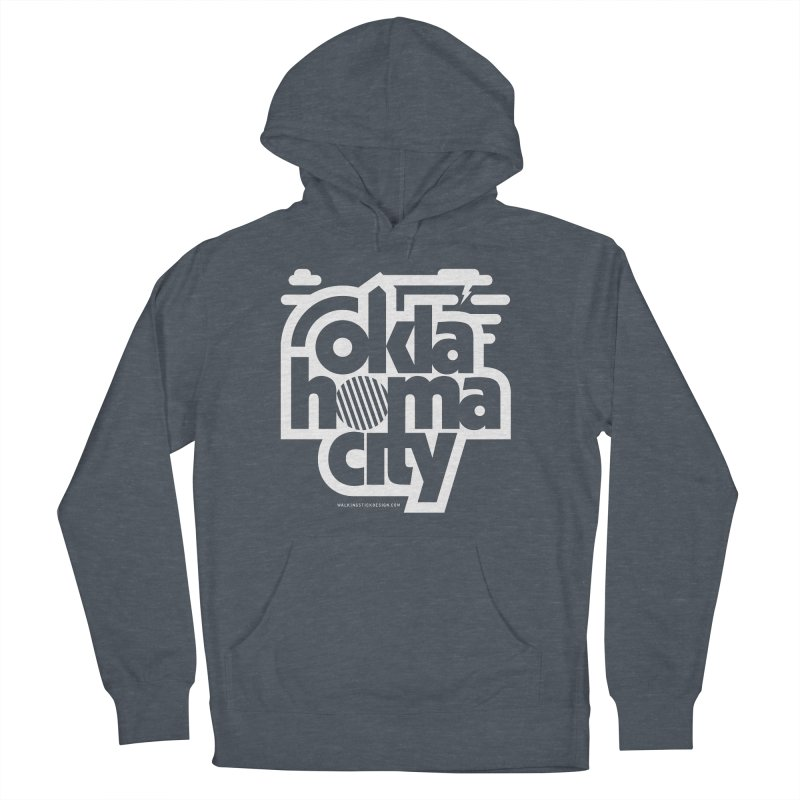Retro Oklahoma City Shirt Men's French Terry Pullover Hoody by walkingstickdesign's Artist Shop