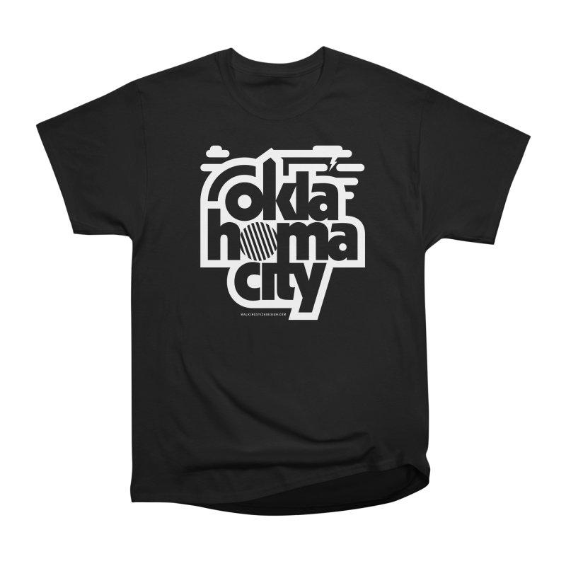Retro Oklahoma City Shirt Women's Heavyweight Unisex T-Shirt by walkingstickdesign's Artist Shop