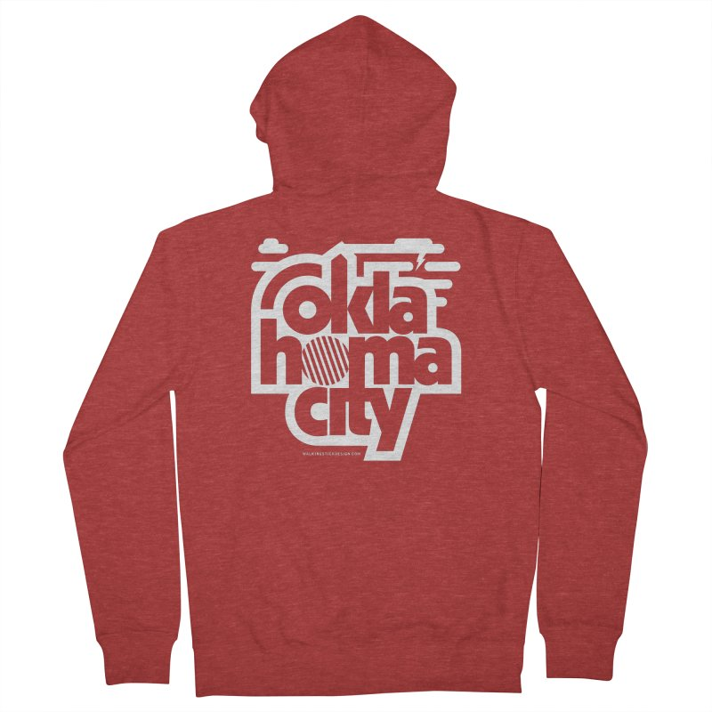 Retro Oklahoma City Shirt Women's French Terry Zip-Up Hoody by walkingstickdesign's Artist Shop