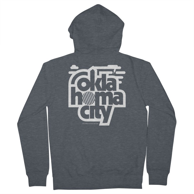 Retro Oklahoma City Shirt Men's French Terry Zip-Up Hoody by walkingstickdesign's Artist Shop