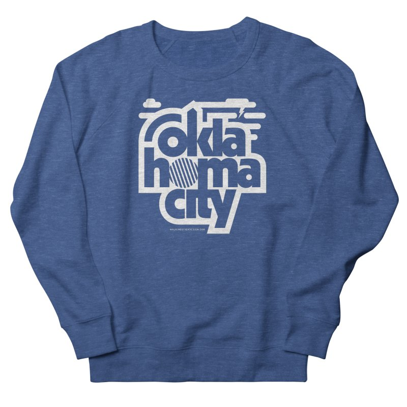 Retro Oklahoma City Shirt Men's French Terry Sweatshirt by walkingstickdesign's Artist Shop