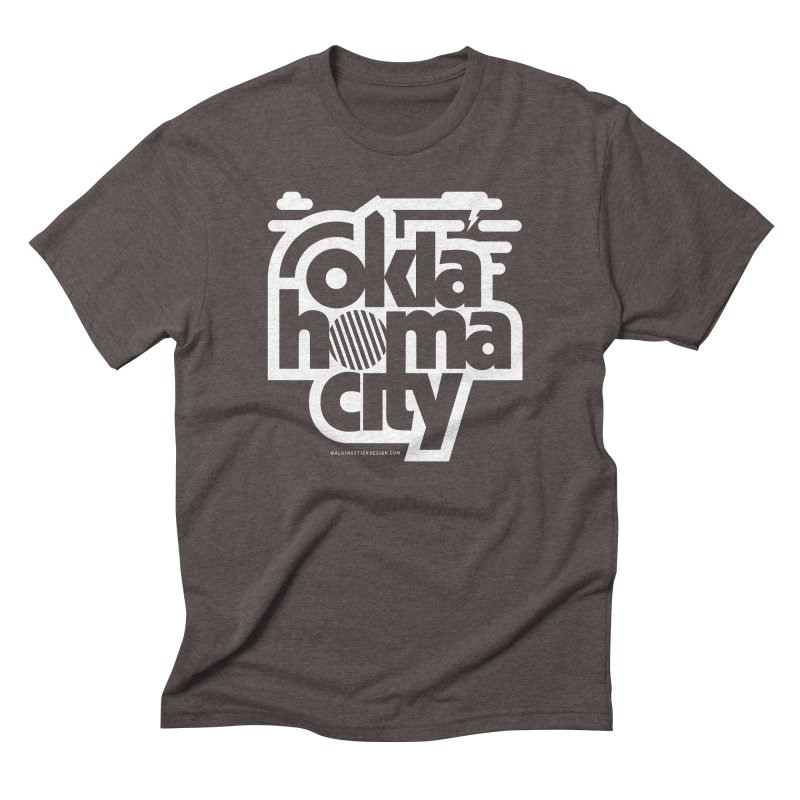 Retro Oklahoma City Shirt Men's Triblend T-Shirt by walkingstickdesign's Artist Shop