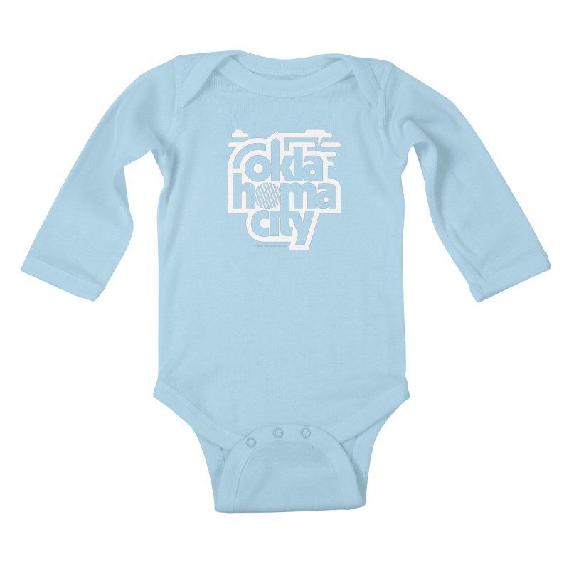 Retro Oklahoma City Shirt Kids Baby Longsleeve Bodysuit by walkingstickdesign's Artist Shop