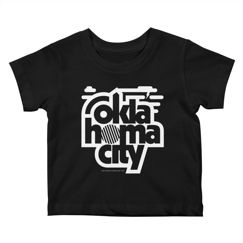 Retro Oklahoma City Shirt Kids Baby T-Shirt by walkingstickdesign's Artist Shop
