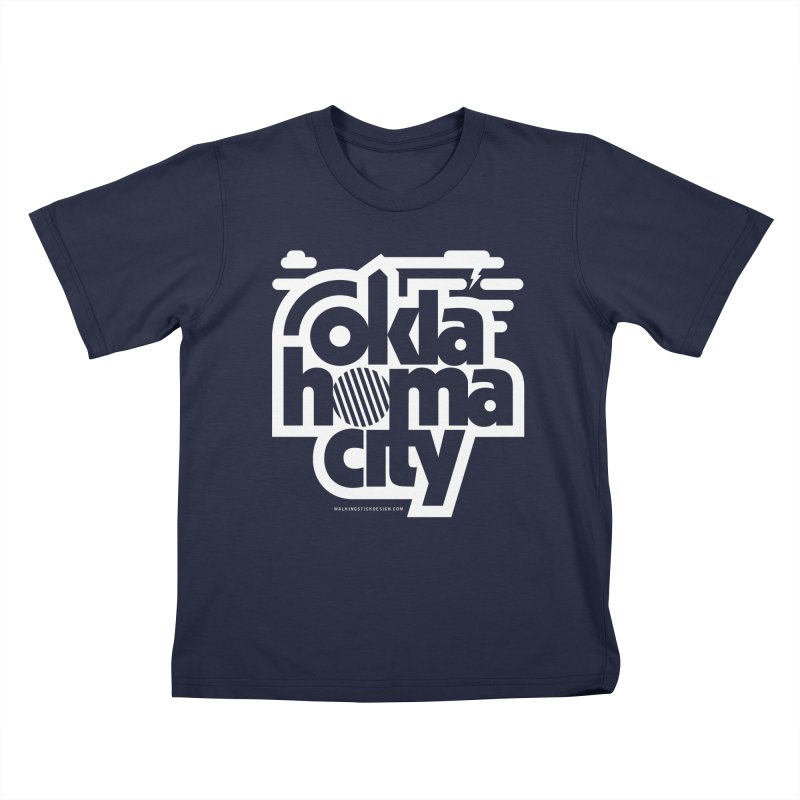 Retro Oklahoma City Shirt Kids T-Shirt by walkingstickdesign's Artist Shop