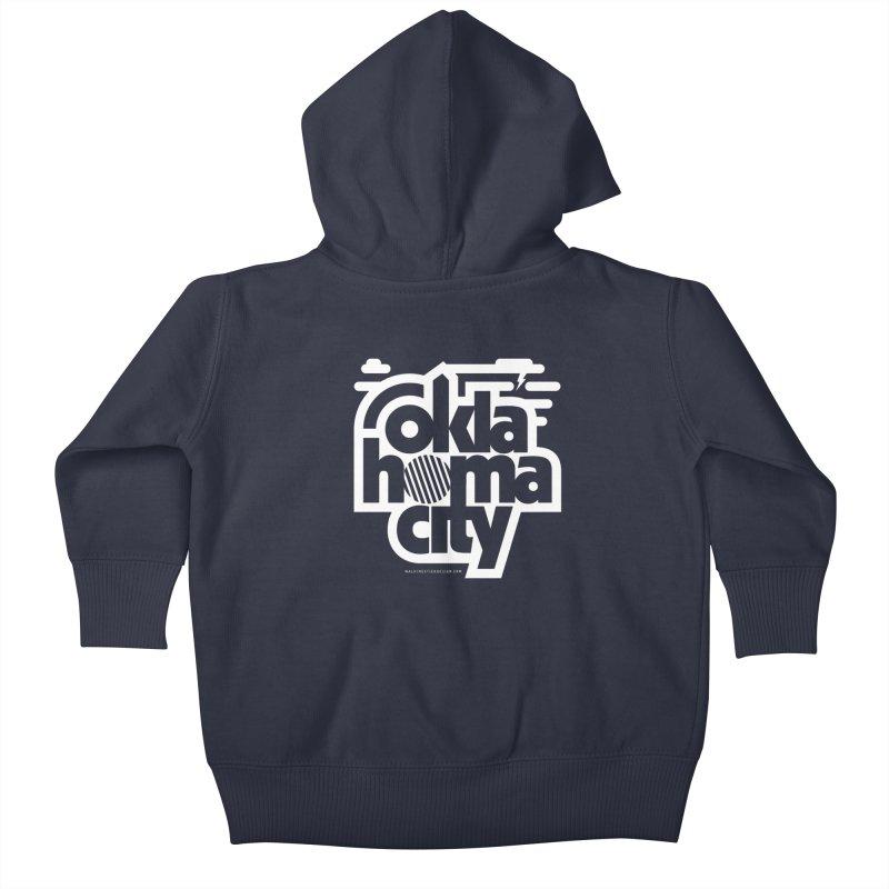 Retro Oklahoma City Shirt Kids Baby Zip-Up Hoody by walkingstickdesign's Artist Shop