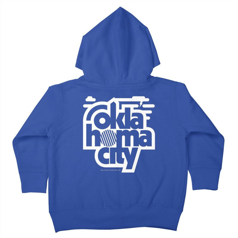 Retro Oklahoma City Shirt Kids Toddler Zip-Up Hoody by walkingstickdesign's Artist Shop