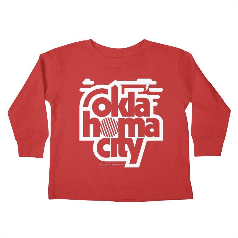 Retro Oklahoma City Shirt Kids Toddler Longsleeve T-Shirt by walkingstickdesign's Artist Shop