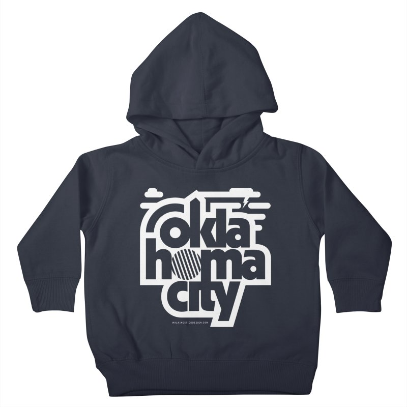Retro Oklahoma City Shirt Kids Toddler Pullover Hoody by walkingstickdesign's Artist Shop