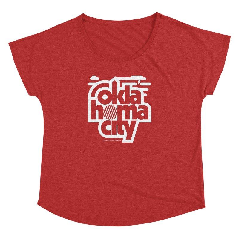 Retro Oklahoma City Shirt Women's Dolman Scoop Neck by walkingstickdesign's Artist Shop