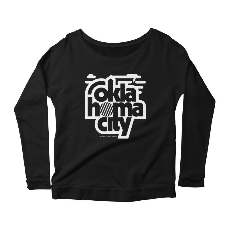 Retro Oklahoma City Shirt Women's Scoop Neck Longsleeve T-Shirt by walkingstickdesign's Artist Shop