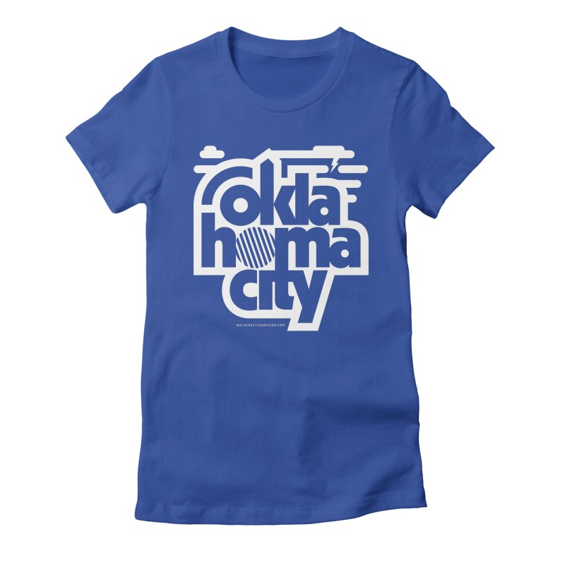 Retro Oklahoma City Shirt Women's Fitted T-Shirt by walkingstickdesign's Artist Shop