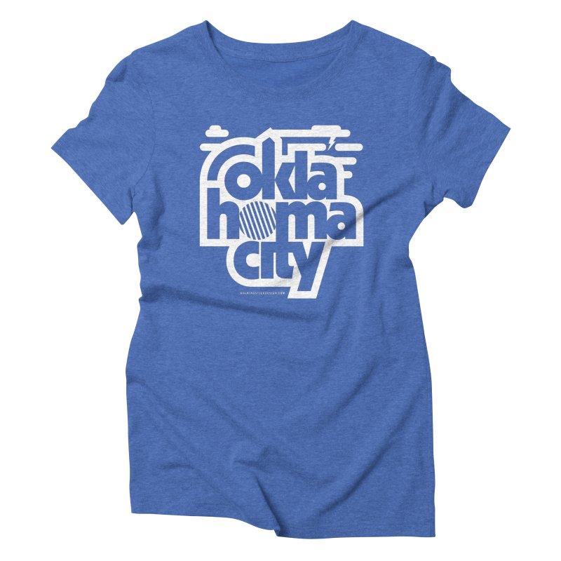 Retro Oklahoma City Shirt Women's Triblend T-Shirt by walkingstickdesign's Artist Shop