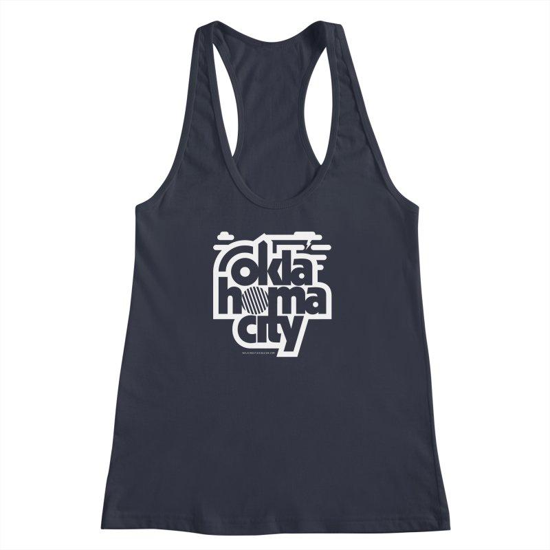 Retro Oklahoma City Shirt Women's Racerback Tank by walkingstickdesign's Artist Shop
