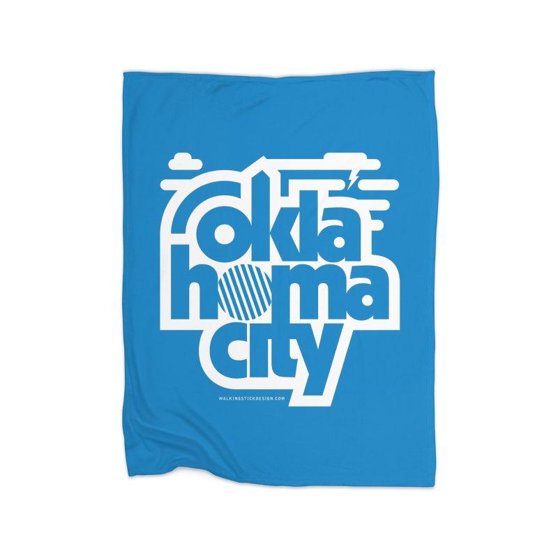 Retro Oklahoma City Shirt Home Blanket by walkingstickdesign's Artist Shop