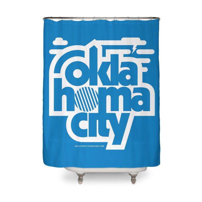 Retro Oklahoma City Shirt Home Shower Curtain by walkingstickdesign's Artist Shop