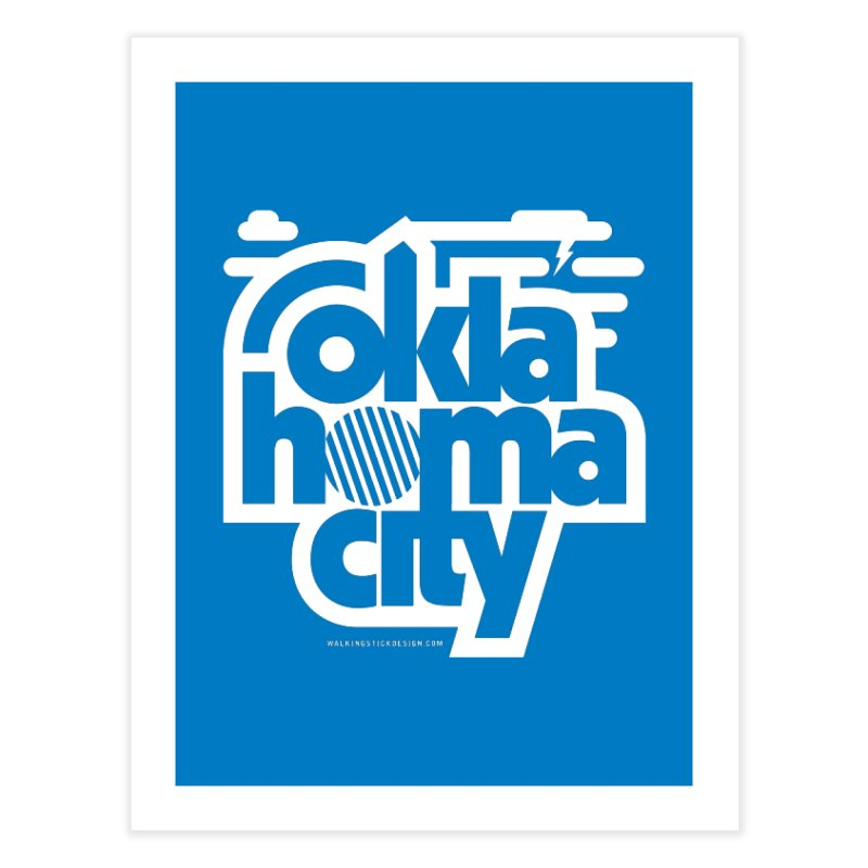 Retro Oklahoma City Shirt Home Fine Art Print by walkingstickdesign's Artist Shop