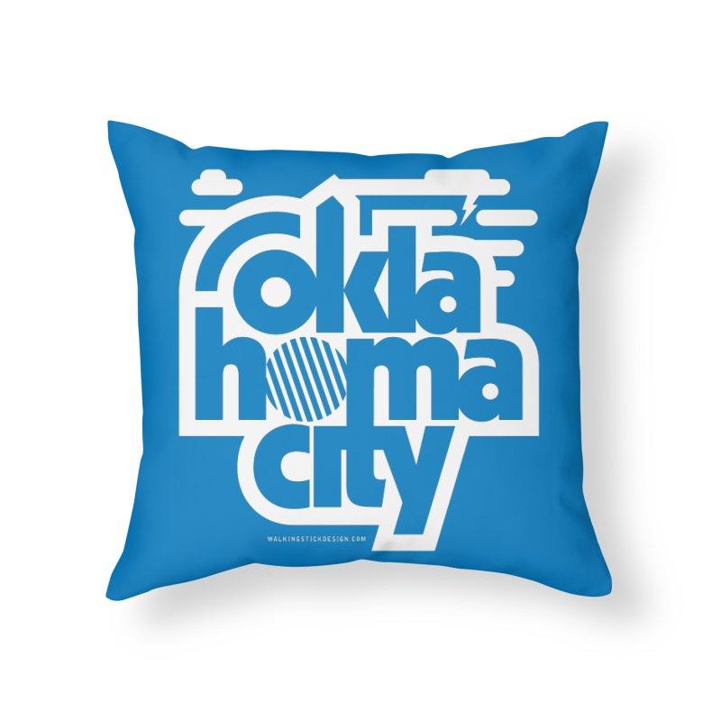 Retro Oklahoma City Shirt Home Throw Pillow by walkingstickdesign's Artist Shop