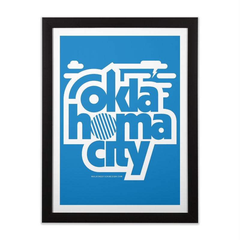 Retro Oklahoma City Shirt Home Framed Fine Art Print by walkingstickdesign's Artist Shop