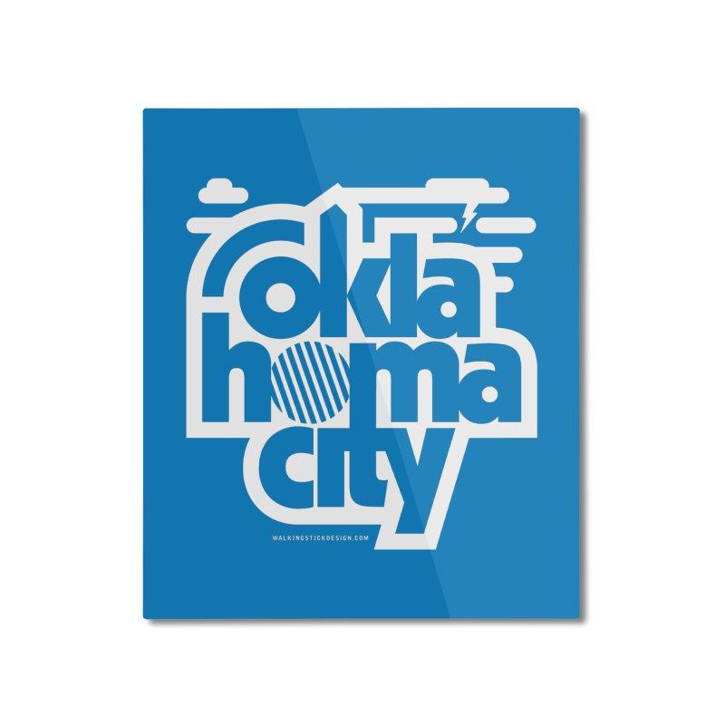 Retro Oklahoma City Shirt Home Mounted Aluminum Print by walkingstickdesign's Artist Shop