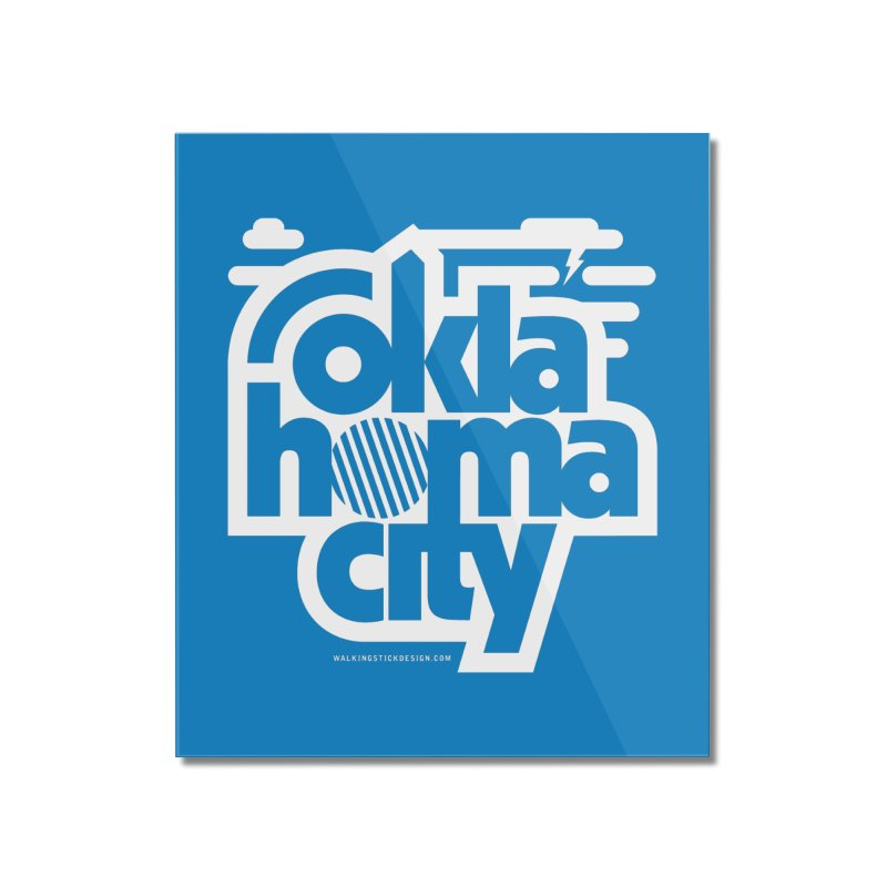 Retro Oklahoma City Shirt Home Mounted Acrylic Print by walkingstickdesign's Artist Shop