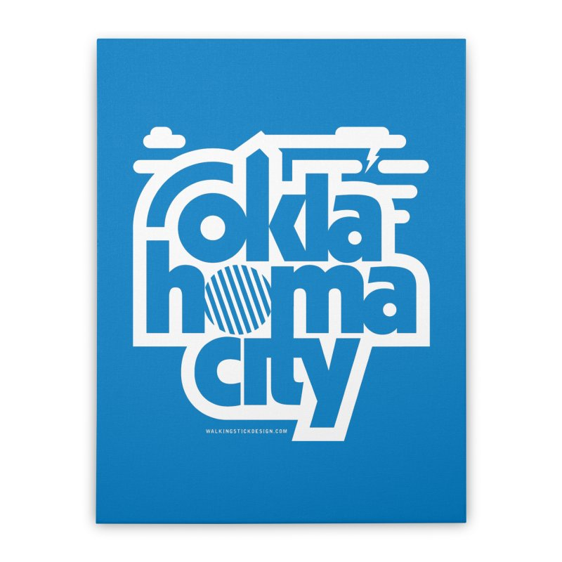 Retro Oklahoma City Shirt Home Stretched Canvas by walkingstickdesign's Artist Shop