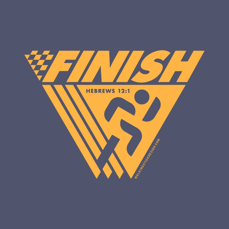 FINISH Retro Race Tee by walkingstickdesign's Artist Shop