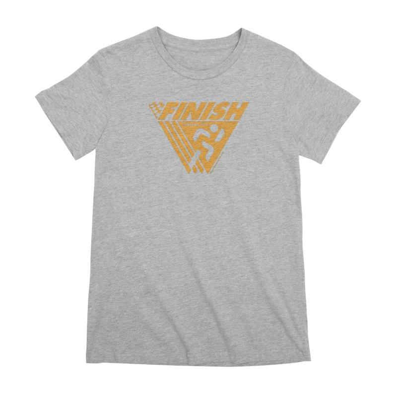 FINISH Retro Race Tee Women's Premium T-Shirt by walkingstickdesign's Artist Shop