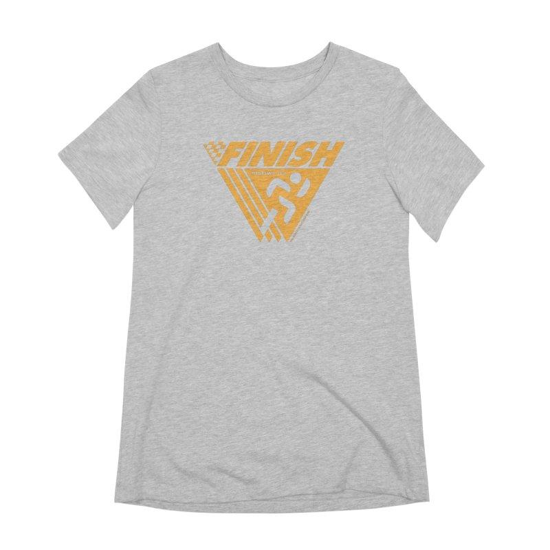 FINISH Retro Race Tee Women's Extra Soft T-Shirt by WalkingStick Design's Artist Shop
