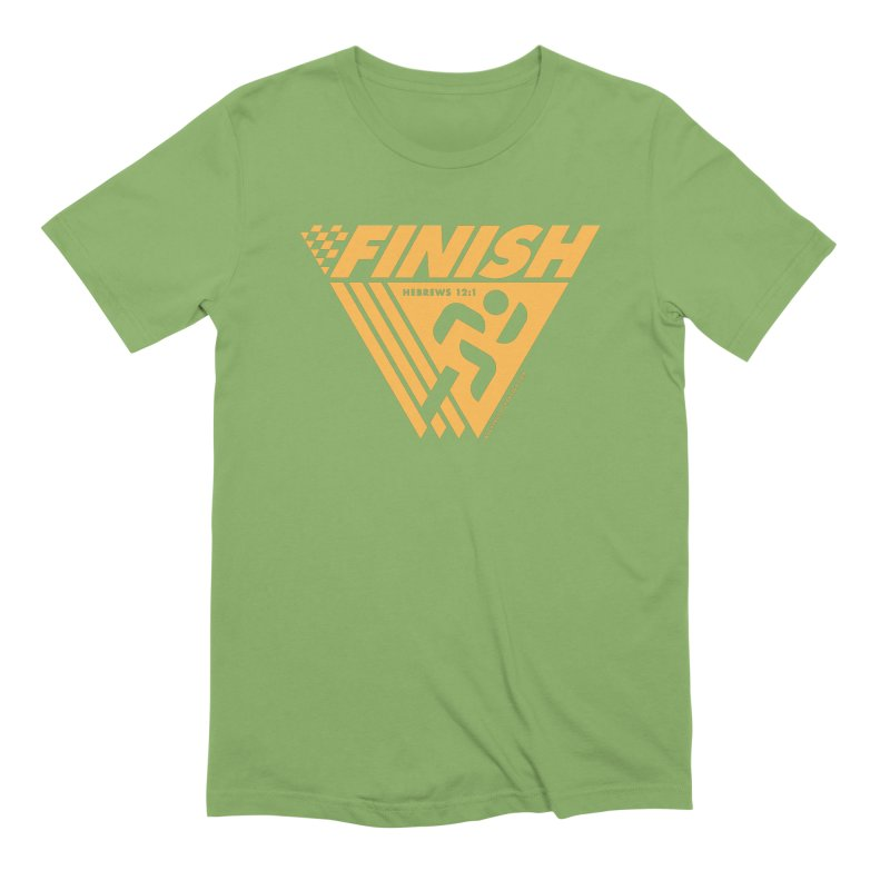 FINISH Retro Race Tee Men's Extra Soft T-Shirt by walkingstickdesign's Artist Shop