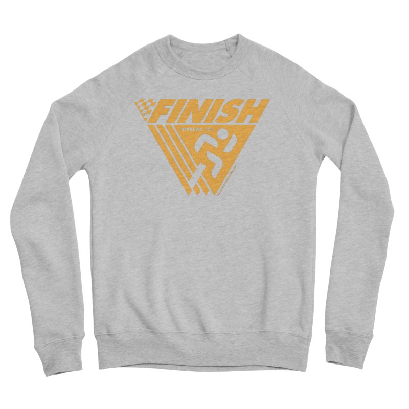 FINISH Retro Race Tee Women's Sponge Fleece Sweatshirt by WalkingStick Design's Artist Shop