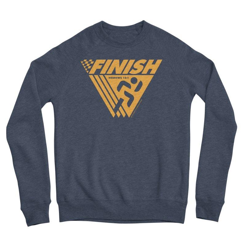 FINISH Retro Race Tee Men's Sponge Fleece Sweatshirt by WalkingStick Design's Artist Shop