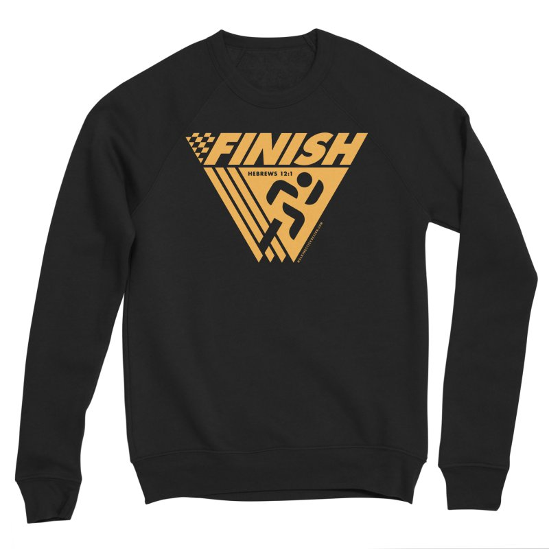 FINISH Retro Race Tee Women's Sponge Fleece Sweatshirt by WalkingStick Design's Artist Shop