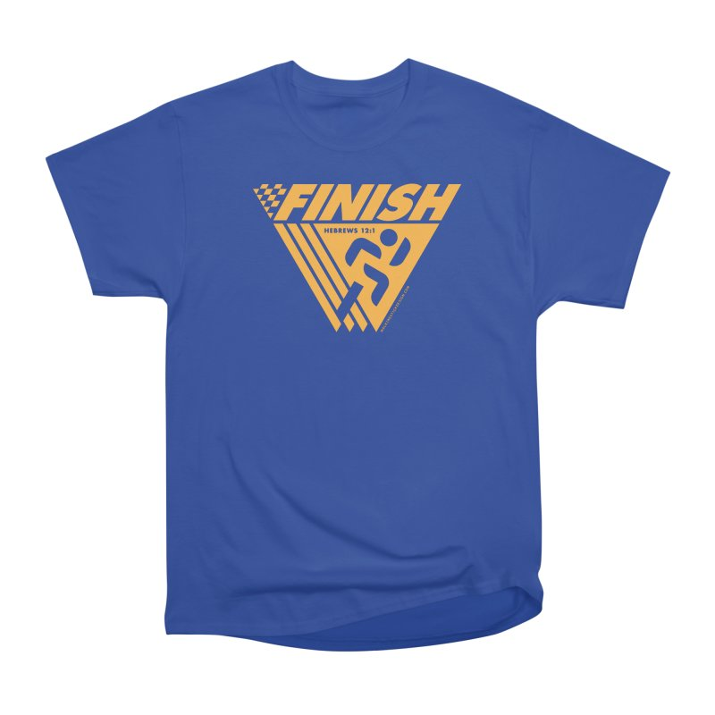 FINISH Retro Race Tee Women's Heavyweight Unisex T-Shirt by walkingstickdesign's Artist Shop