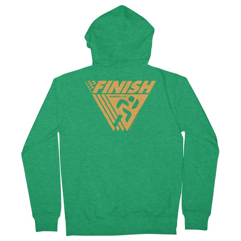 FINISH Retro Race Tee Men's French Terry Zip-Up Hoody by WalkingStick Design's Artist Shop
