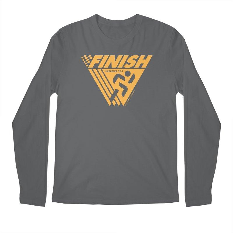 FINISH Retro Race Tee Men's Regular Longsleeve T-Shirt by WalkingStick Design's Artist Shop