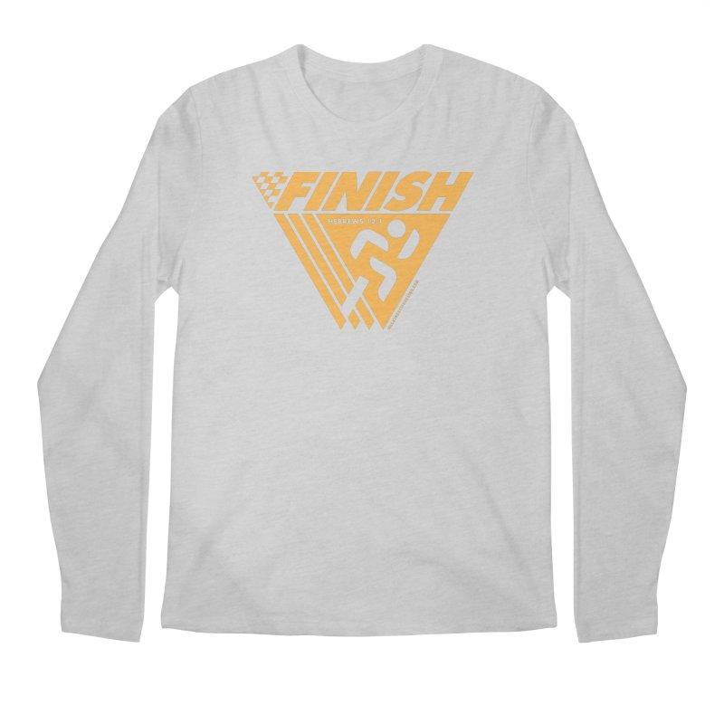 FINISH Retro Race Tee Men's Regular Longsleeve T-Shirt by walkingstickdesign's Artist Shop