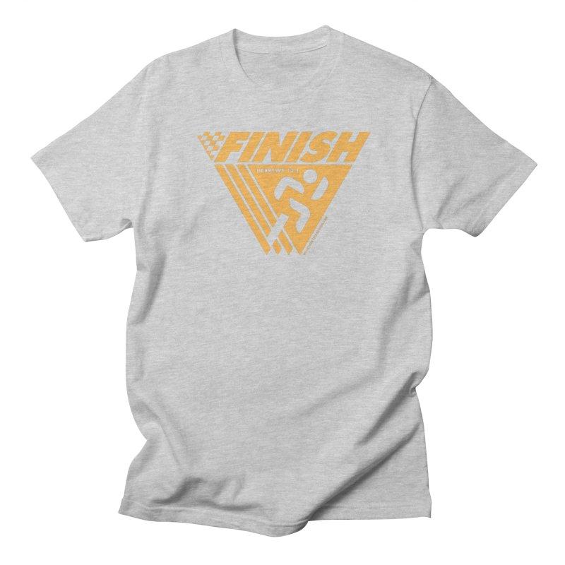 FINISH Retro Race Tee Men's Regular T-Shirt by walkingstickdesign's Artist Shop