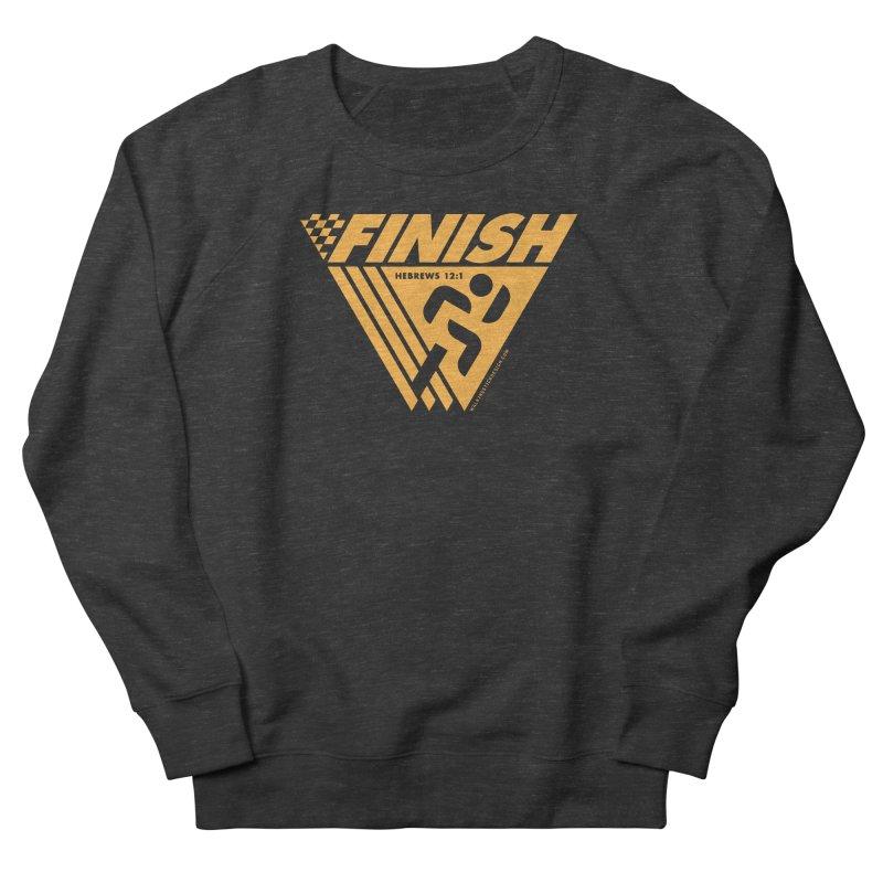 FINISH Retro Race Tee Men's French Terry Sweatshirt by WalkingStick Design's Artist Shop